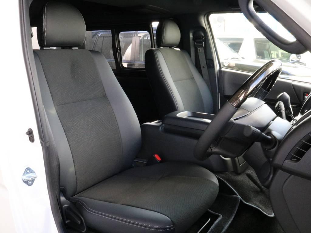 木目調のハンドルです!!   トヨタ ハイエースバン 2.8 スーパーGL ダークプライムⅡ ロングボディ ディーゼルターボ 4WD 寒冷地仕様 小窓付き