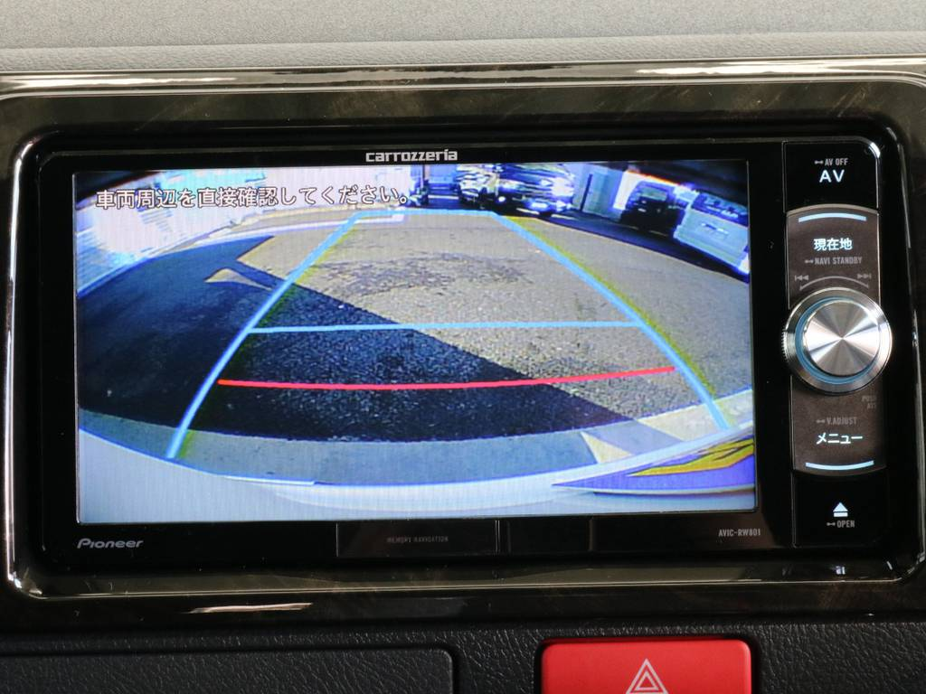 バックガイドモニター付きです。   トヨタ ハイエースバン 2.8 スーパーGL ダークプライムⅡ ロングボディ ディーゼルターボ 4WD 寒冷地仕様 小窓付き