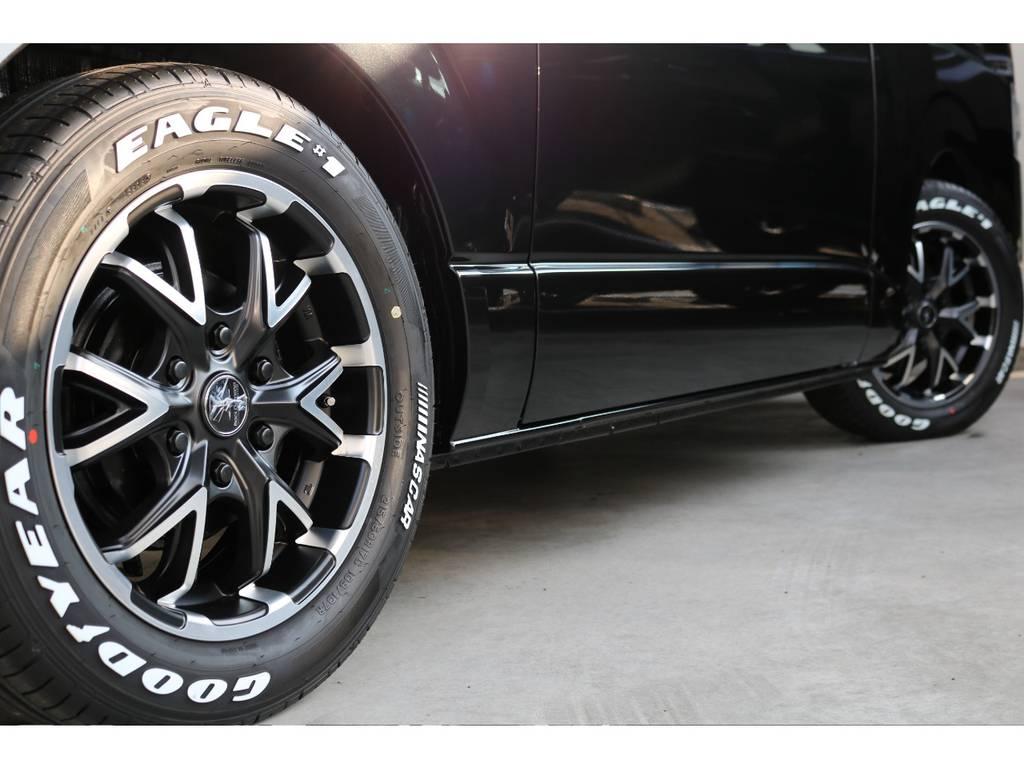 ブラックダイヤモンド16インチアルミ! | トヨタ ハイエースバン 2.8 スーパーGL ダークプライムⅡ ロングボディ ディーゼルターボ PS無