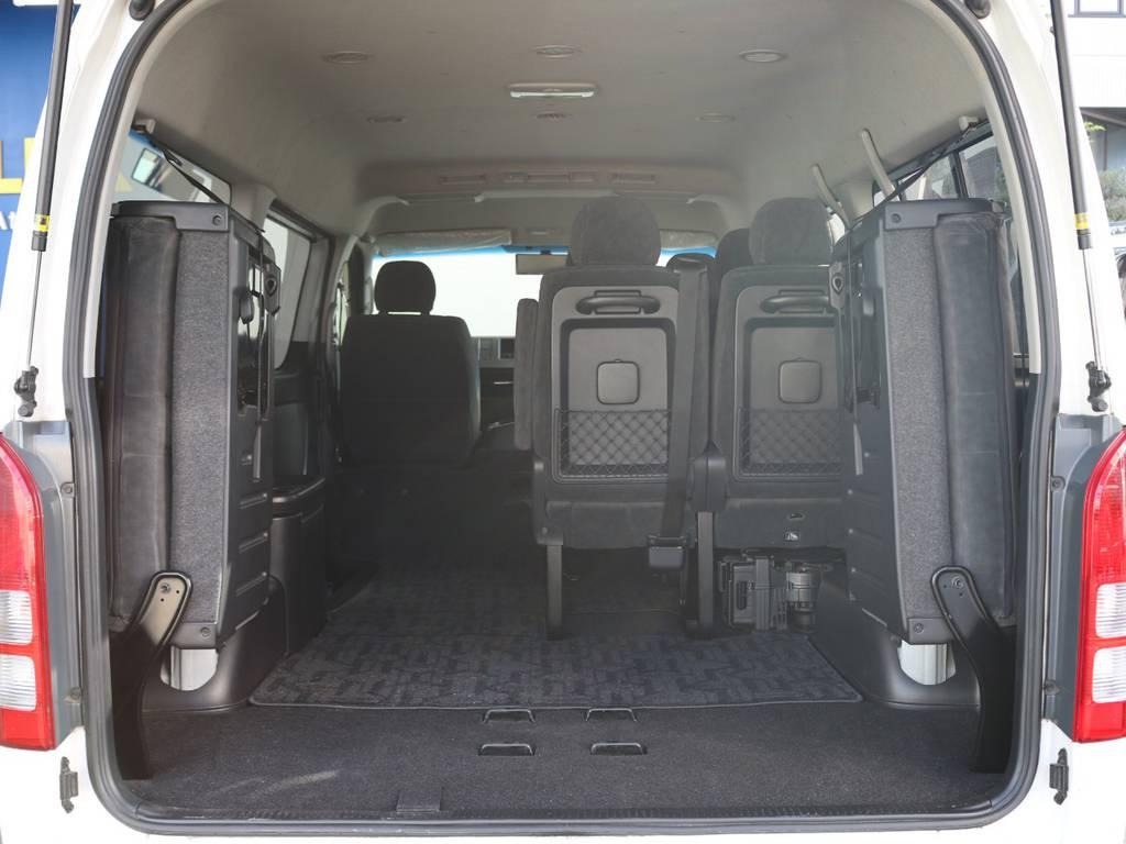 4列目シートを畳むとこんなに広いです!! | トヨタ ハイエース 2.7 GL ロング ミドルルーフ ワゴンGL