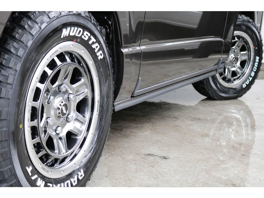 マッドスター16インチタイヤ!! | トヨタ ハイエースバン 2.8 スーパーGL 50TH アニバーサリー リミテッド ロングボディ ディーゼルターボ 4WD TRDバンパー、オフロード仕様