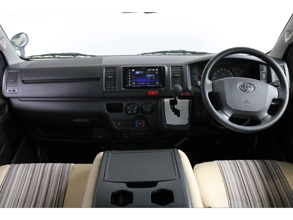 運転席のイメージです。車高が高く前がないので運転しやすいですよ!
