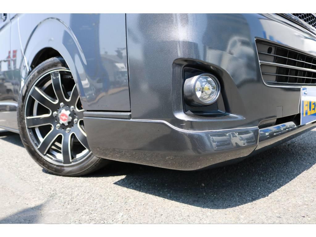 SXフロントリップスポイラー装着済みです。 | トヨタ レジアスエース 2.0 スーパーGL ロングボディ 下取り直販プライス