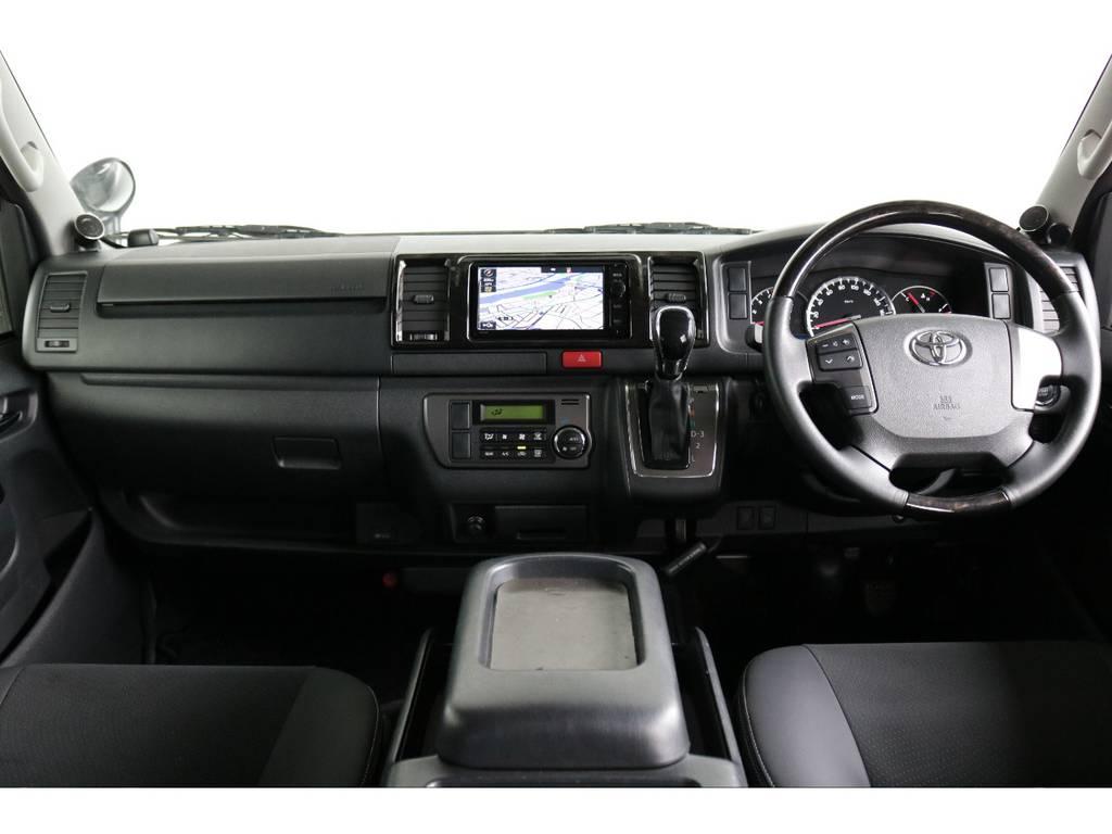 見晴らしがよく運転しやすいですよ!! | トヨタ ハイエースバン 3.0 スーパーGL ダークプライム ロングボディ ディーゼルターボ 4WD ナビ・ETC・Bカメラ付
