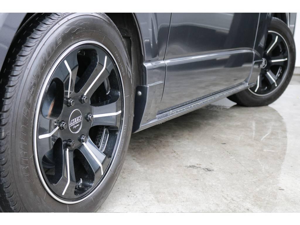 MTS17インチAW&17インチCタイヤ!! | トヨタ ハイエースバン 3.0 スーパーGL ダークプライム ロングボディ ディーゼルターボ 4WD ナビ・ETC・Bカメラ付