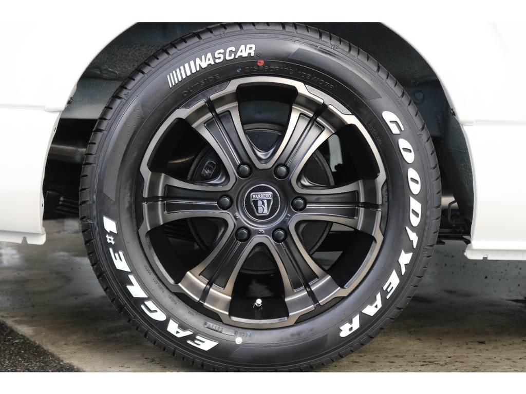 新品バルベロ ディープス17インチAW/新品グッドイヤーナスカー17インチタイヤ 装着済です!