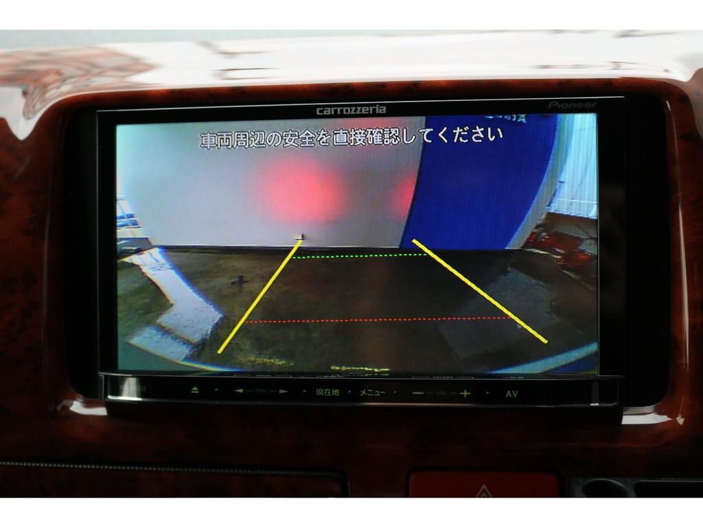 ナビ連動バックカメラ!今やハイエースにバックカメラの装備は欠かせないですよね!これがあれば後方確認もバッチリです!