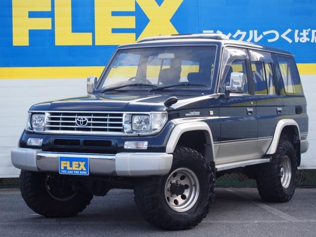 78プラド 最上級EX 3000D-t【2インチアップ/社外15インチAW/MTタイヤ】【メッキグリル/クリスタルヘッドライト/クリアウイン