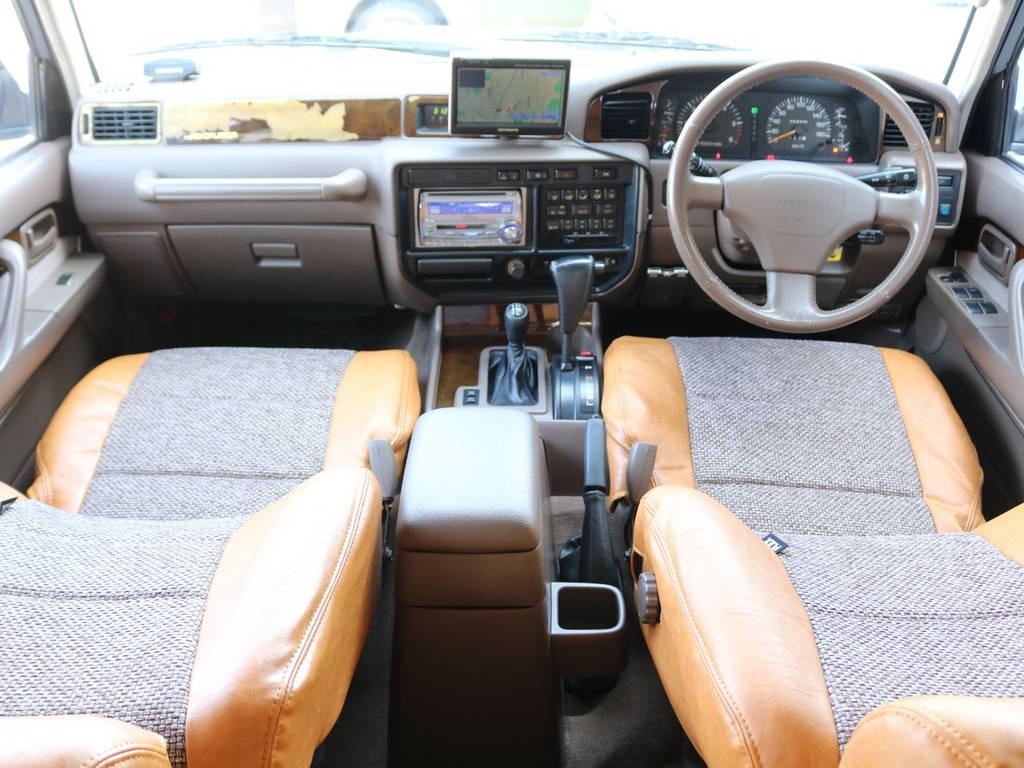 内装は茶内装☆ | トヨタ ランドクルーザー80 4.5 VXリミテッド 4WD 丸目 60フェイス