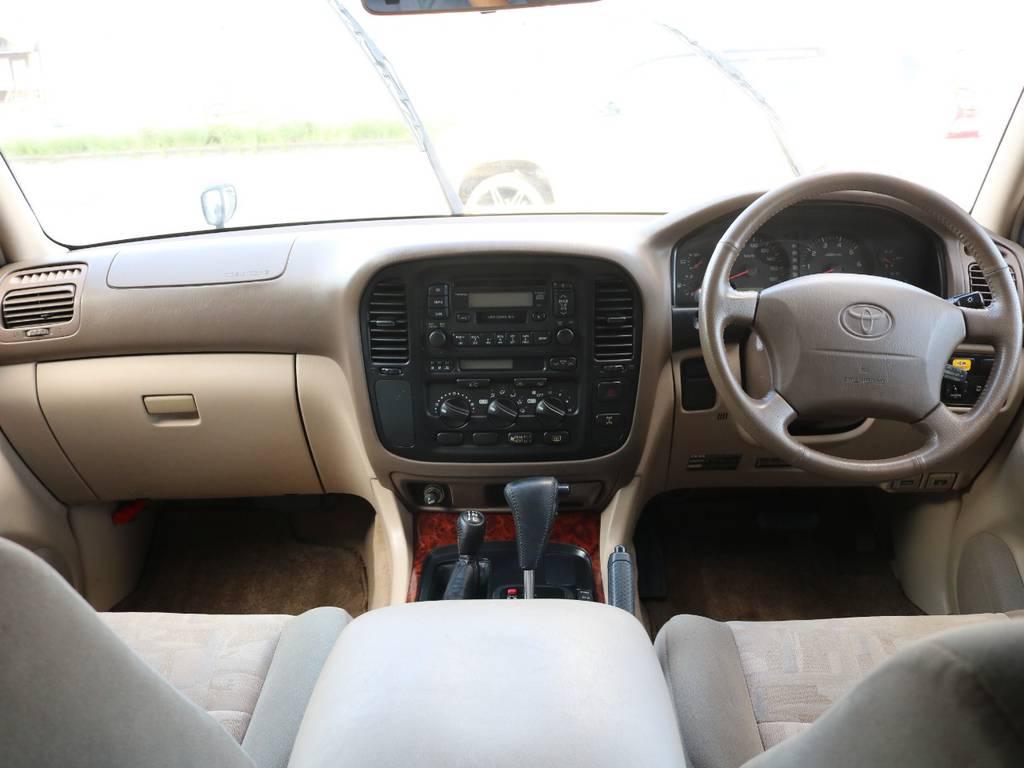 内装はベージュを基調とした高級感ある雰囲気です☆ | トヨタ ランドクルーザー100 4.7 VXリミテッド 4WD