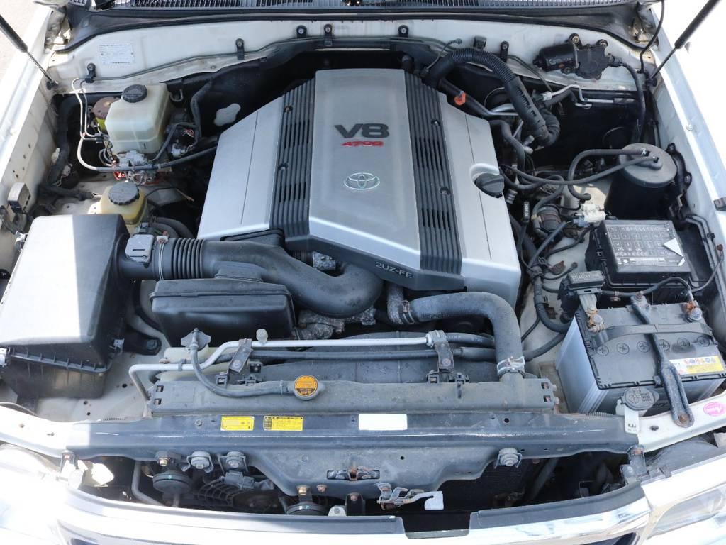 4.7Lのパワフルなエンジン搭載!1ナンバーに変更可能ですので維持費も抑えられます! | トヨタ ランドクルーザー100 4.7 VXリミテッド 4WD