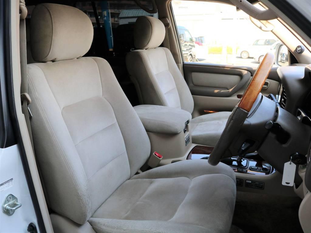 シートは50th Anniversary専用のエクセレーヌ生地のシートとなっております♪ | トヨタ ランドクルーザー100 4.7 VXリミテッド Gセレクション 50thアニバーサリーエディション 4WD