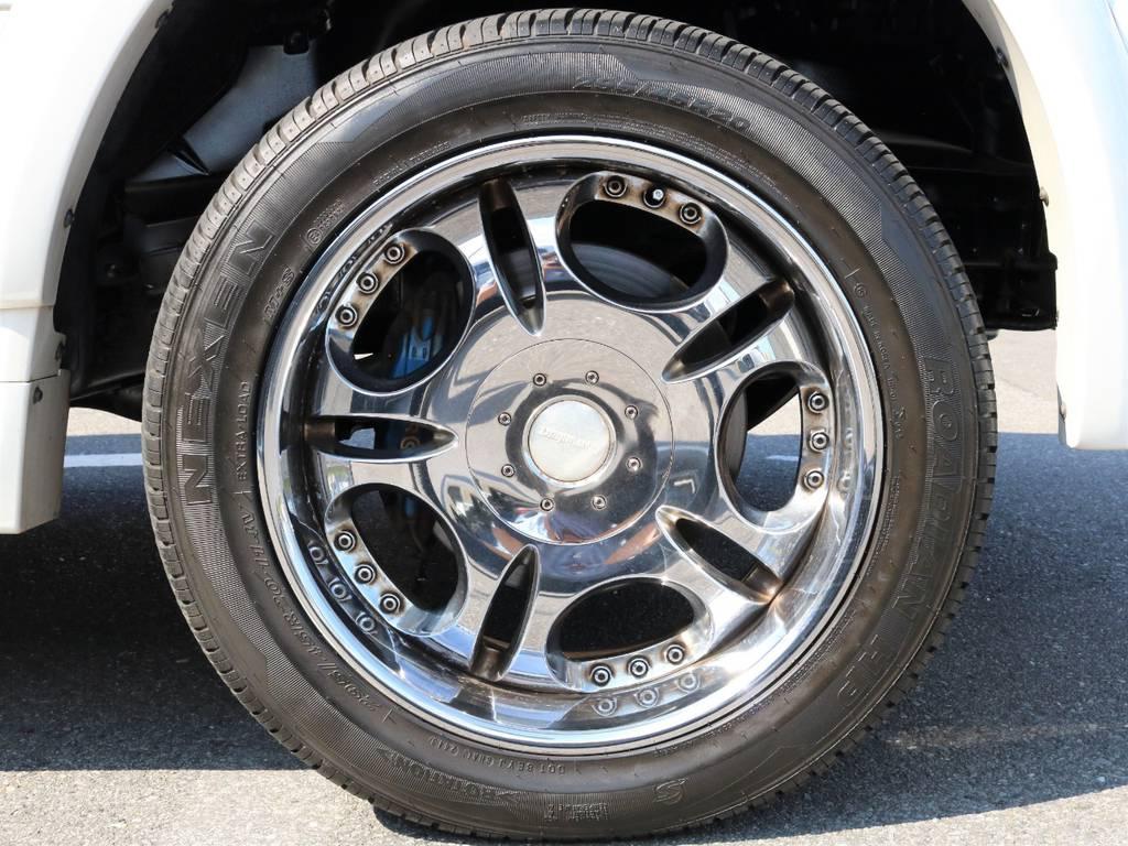 ローウェンハートの20インチアルミを装着しております☆ | トヨタ ランドクルーザー100 4.7 VXリミテッド Gセレクション 50thアニバーサリーエディション 4WD