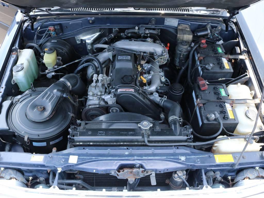 3.0Lのディーゼルエンジンで快適に走行出来ます! | トヨタ ランドクルーザープラド 3.0 SXワイド ディーゼルターボ 4WD