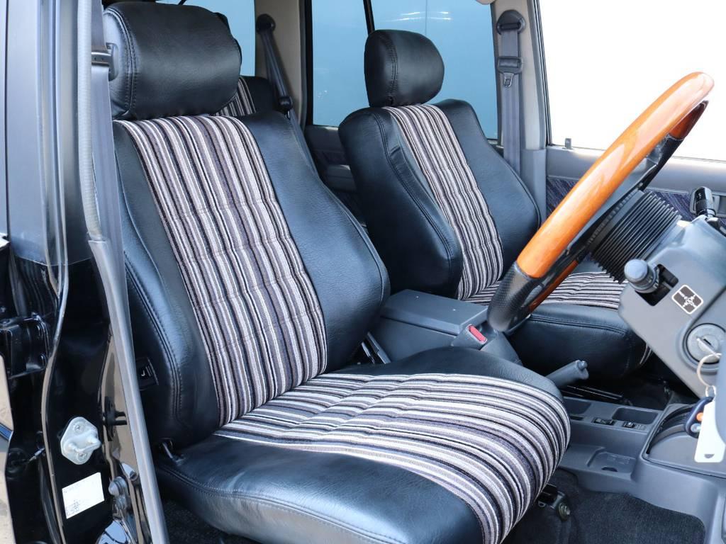 フレックスオリジナルシートカバー装着済み! | トヨタ ランドクルーザープラド 3.0 SXワイド ディーゼルターボ 4WD