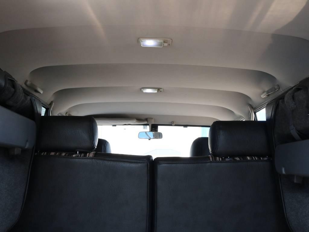 広々した天井!大きなキズやへたりも無く天張りもグッドコンディション! | トヨタ ランドクルーザープラド 3.0 SXワイド ディーゼルターボ 4WD