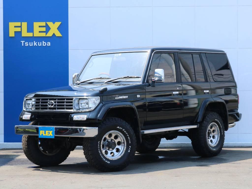 ブラックカラーの78プラドが入庫致しました!シンプルにオシャレにカスタム! | トヨタ ランドクルーザープラド 3.0 SXワイド ディーゼルターボ 4WD