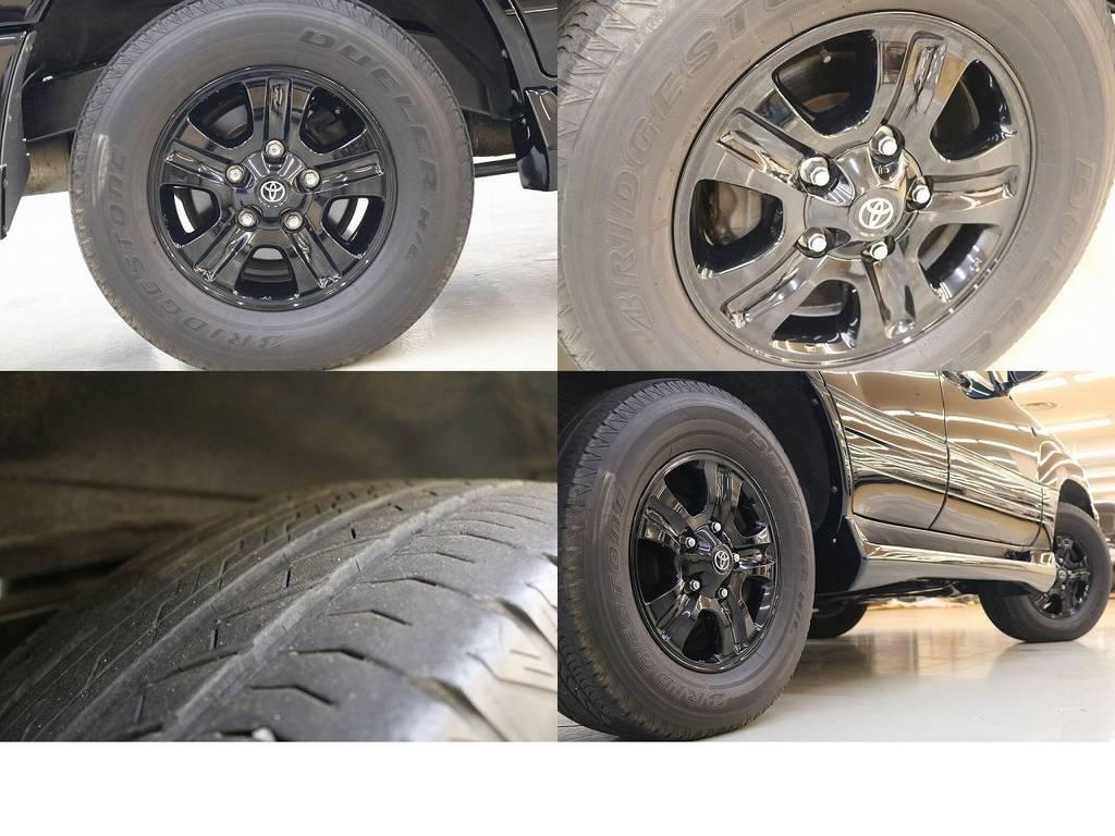 純正17インチホイール☆ブラックペイント☆ | トヨタ ランドクルーザー100 4.7 VXリミテッド 4WD