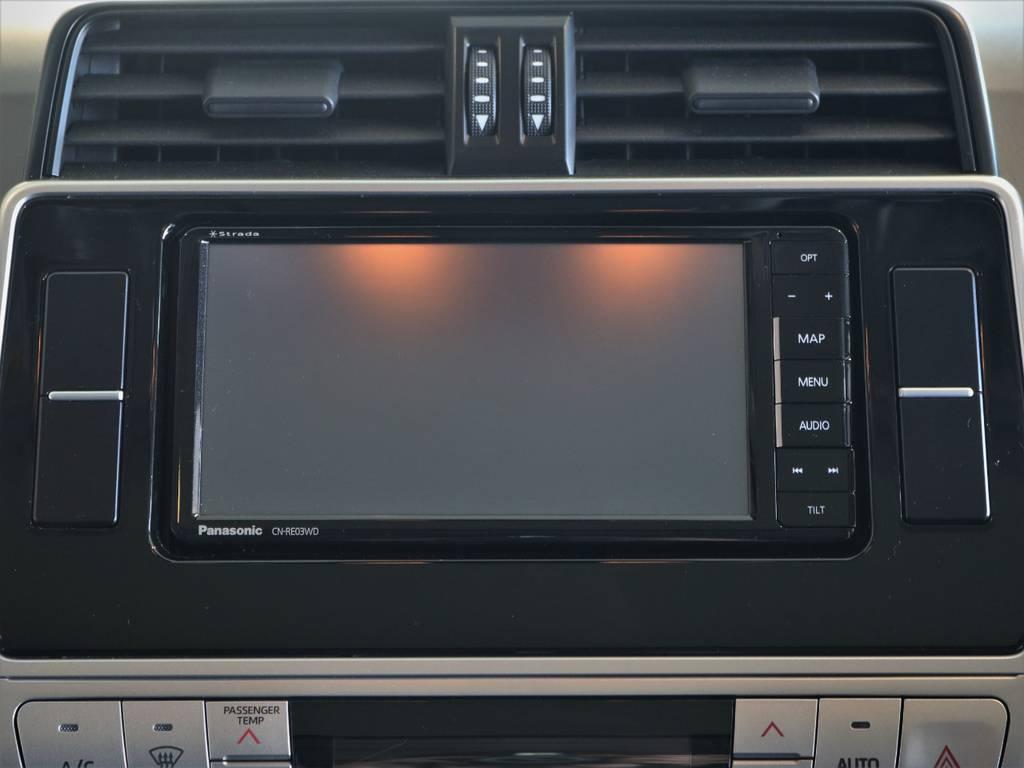 カーナビはStradaを装備済みです♪ | トヨタ ランドクルーザープラド 2.8 TX ディーゼルターボ 4WD