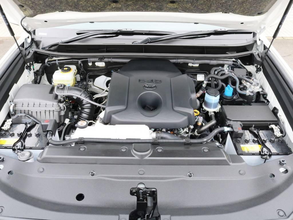 2.8Lのディーゼルターボです! | トヨタ ランドクルーザープラド 2.8 TX ディーゼルターボ 4WD
