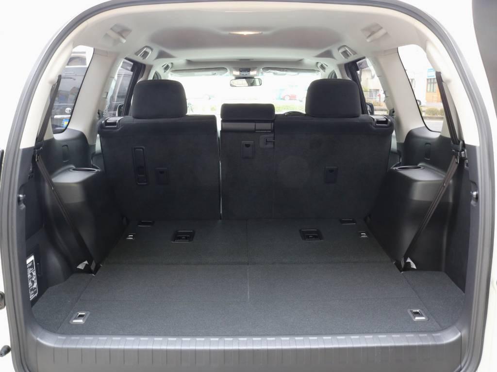 荷室も広々とお使いいただけます♪ | トヨタ ランドクルーザープラド 2.8 TX ディーゼルターボ 4WD