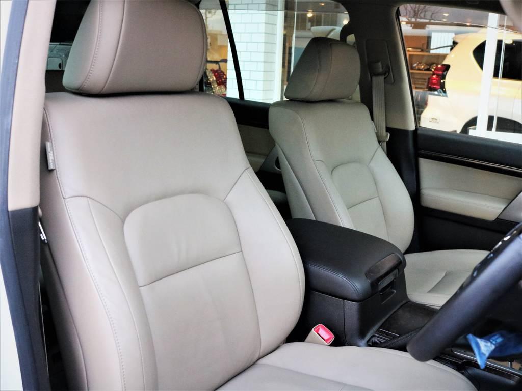 一度乗ったらもうモケットシートには戻れない最高の乗り心地を味わえる本革シート☆ | トヨタ ランドクルーザー200 4.7 AX Gセレクション 4WD