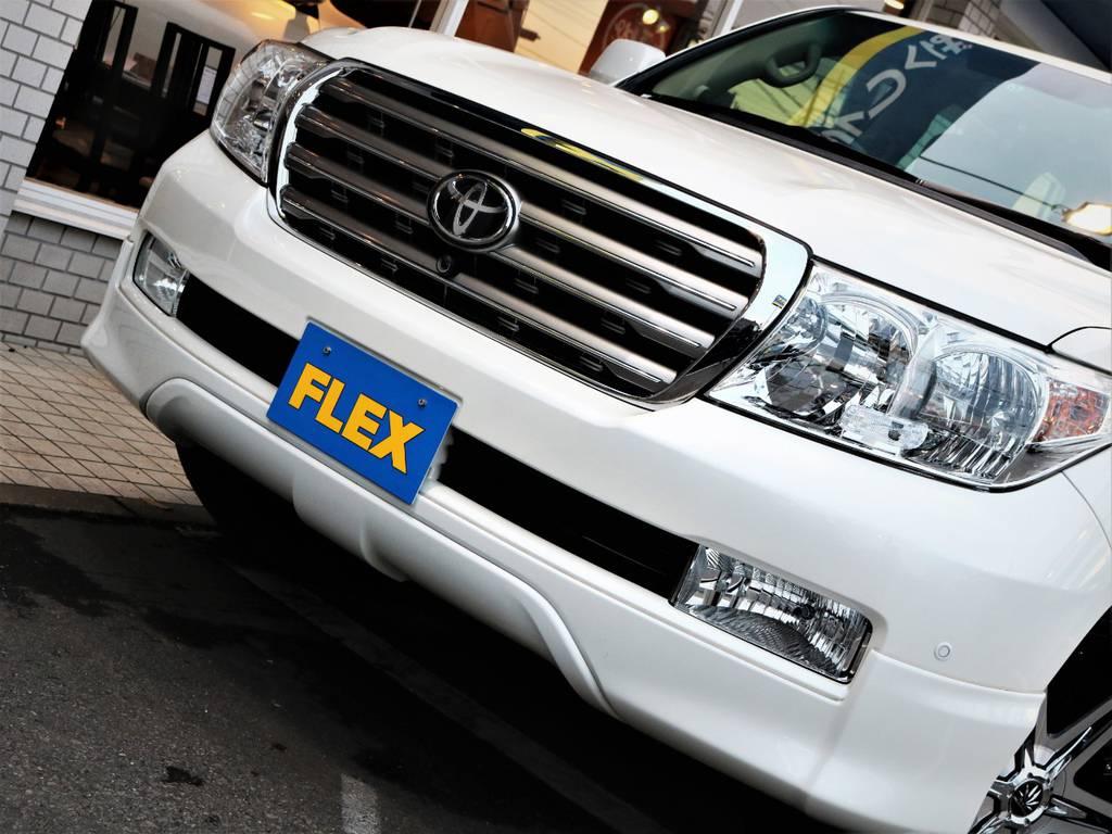 フルエアロのランクル200!厚みのあるフロントフェイスが迫力です☆ | トヨタ ランドクルーザー200 4.7 AX Gセレクション 4WD