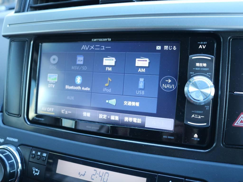 フルセグ対応カロッツェリアSDナビ装着済み!   トヨタ ランドクルーザープラド 2.7 TX 4WD