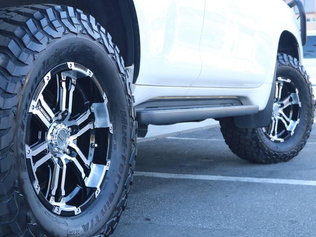 デイトナRAYS17インチAWにBFグッドリッチMTタイヤ新品装着!   トヨタ ランドクルーザープラド 2.7 TX 4WD