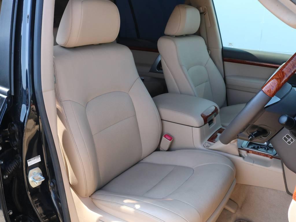 高級な本革シート!座り心地もグッド!   トヨタ ランドクルーザー200 4.6 AX Gセレクション 4WD