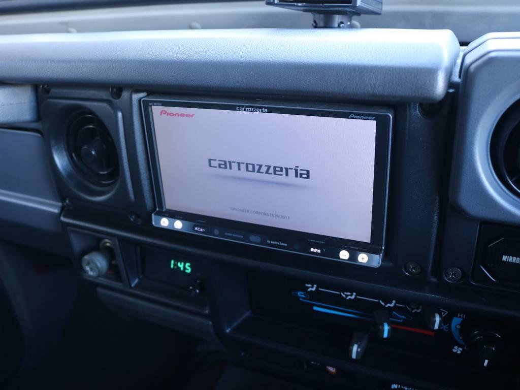 フルセグ対応カロッツェリアSDナビ装着済み! | トヨタ ランドクルーザー70 4.2 ZX FRPトップ ディーゼル 4WD