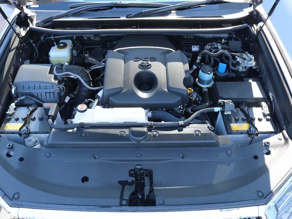 2.8Lディーゼルターボエンジン搭載で燃費性能向上で燃料代も抑えられます! | トヨタ ランドクルーザープラド 2.8 TX ディーゼルターボ 4WD