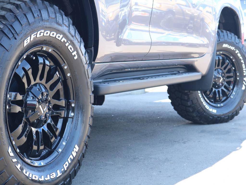 新品レクセン17インチホイール&新品BFグッドリッチMTタイヤを装着致しました! | トヨタ ランドクルーザープラド 2.8 TX ディーゼルターボ 4WD