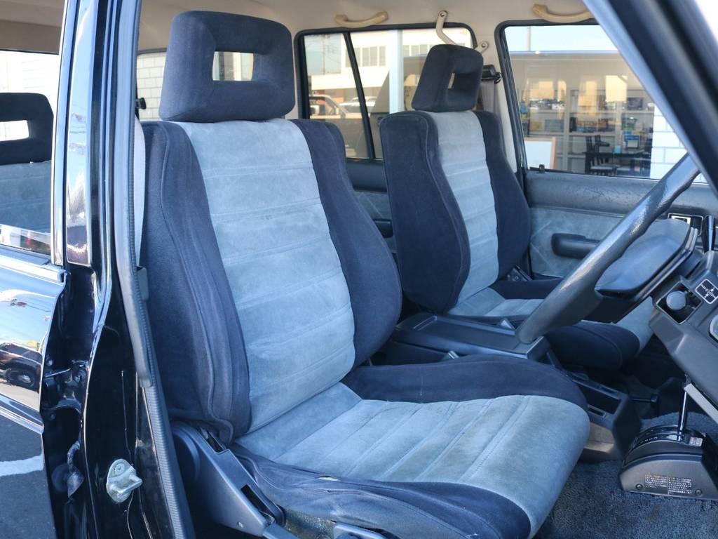 柔らかめなモケットシート!座り心地もグッド! | トヨタ ランドクルーザー60 62G ロールーフ