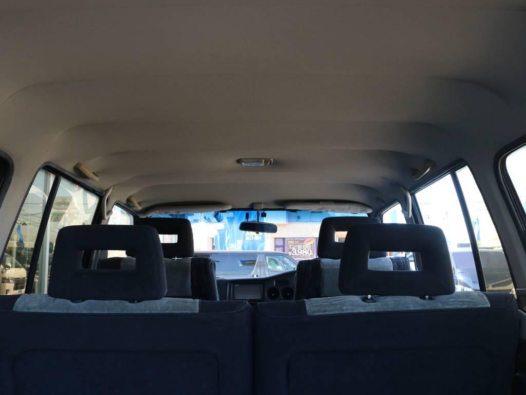 広々した天井!大きなキズやへたりも無く天張りもグッドコンディション! | トヨタ ランドクルーザー60 62G ロールーフ