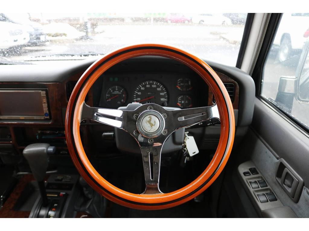 ステアリングも変更しております!   トヨタ ランドクルーザープラド 3.0 EXワイド ディーゼルターボ 4WD