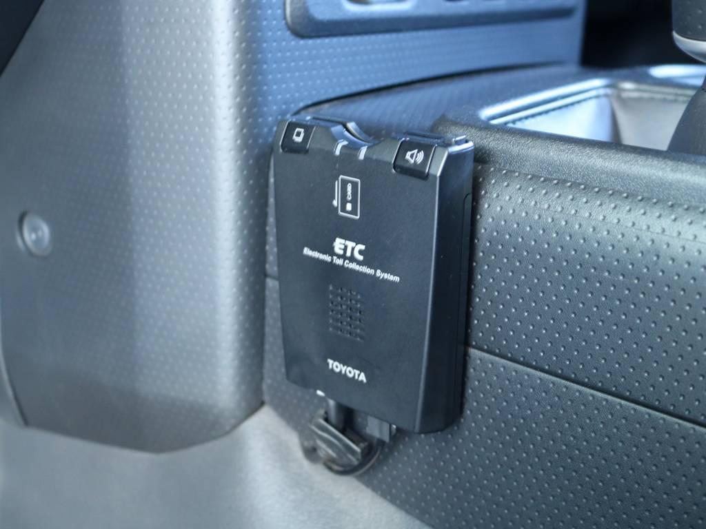 必需品のETCも完備! | トヨタ FJクルーザー 4.0 ブラックカラーパッケージ 4WD 2インチUP 20インチAW