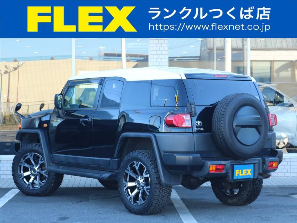 新品2インチUPコイルに新品タイヤホイール装着済み! | トヨタ FJクルーザー 4.0 ブラックカラーパッケージ 4WD 2インチUP 20インチAW