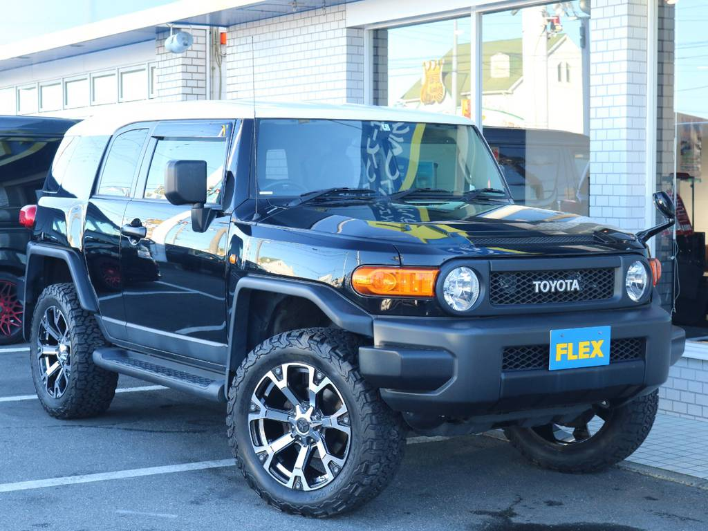 各種任意保険、オートローンも扱っておりますのでお気軽にご相談ください。 | トヨタ FJクルーザー 4.0 ブラックカラーパッケージ 4WD 2インチUP 20インチAW