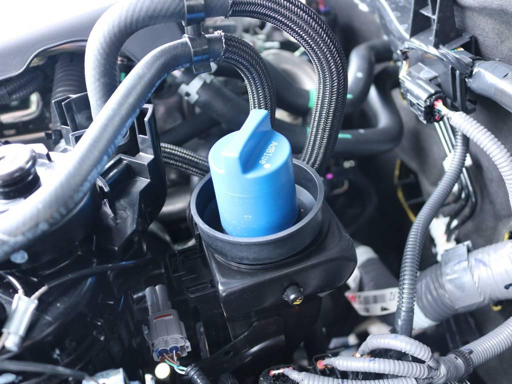 クリーンディーゼル特有のアドブルーも自分で注入できます! | トヨタ ハイラックス 2.4 Z ディーゼルターボ 4WD Z