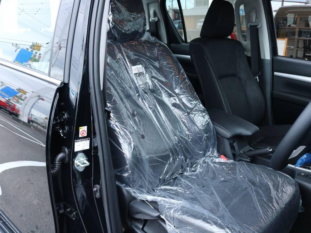 柔らかめなファブリックシート!座り心地もグッド! | トヨタ ハイラックス 2.4 Z ディーゼルターボ 4WD Z