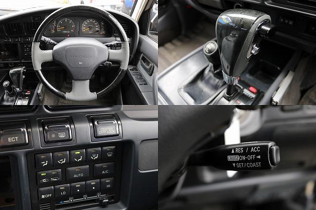 新品ブラックウッド調コンビハンドル&シフトノブ! | トヨタ ランドクルーザー80 4.5 VXリミテッド 4WD 5インチUP