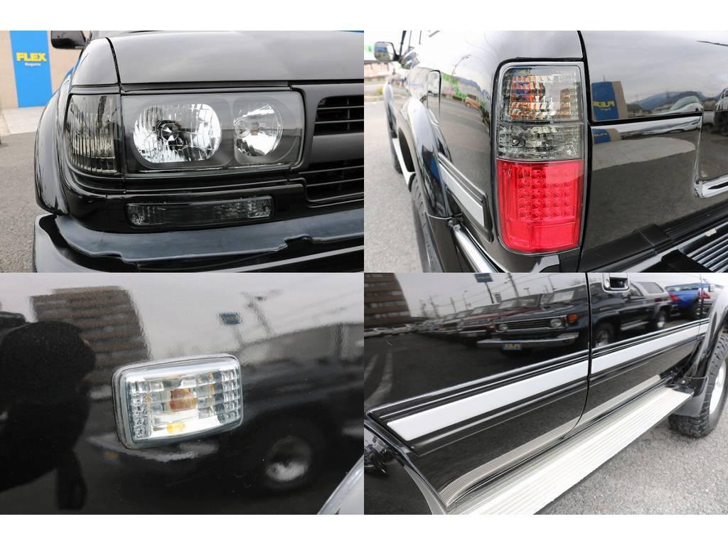 レンズ類はスモーク仕様で仕上げております! | トヨタ ランドクルーザー80 4.5 VXリミテッド 4WD 5インチUP
