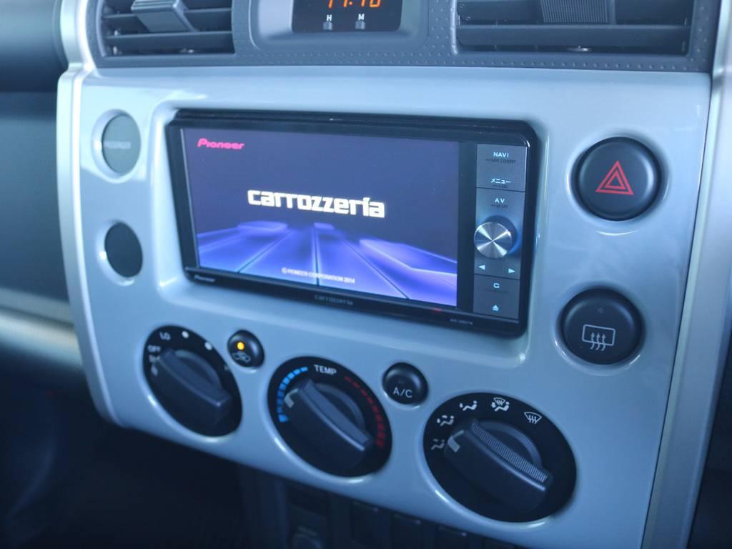カロッツェリア2DINナビも装着済み! | トヨタ FJクルーザー 4.0 オフロードパッケージ 4WD 4.0 オフロードパッケージ 4WD