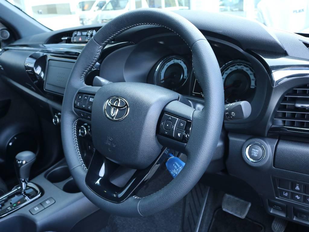 ナビ機種によってはステアリングリモコンも連動出来ます! | トヨタ ハイラックス 2.4 Z ブラック ラリー エディション ディーゼルターボ 4WD Z Black Rally Edit