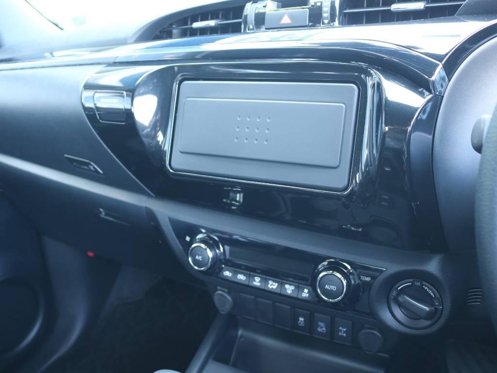 お好きな2DINナビも装着可能! | トヨタ ハイラックス 2.4 Z ブラック ラリー エディション ディーゼルターボ 4WD Z Black Rally Edit