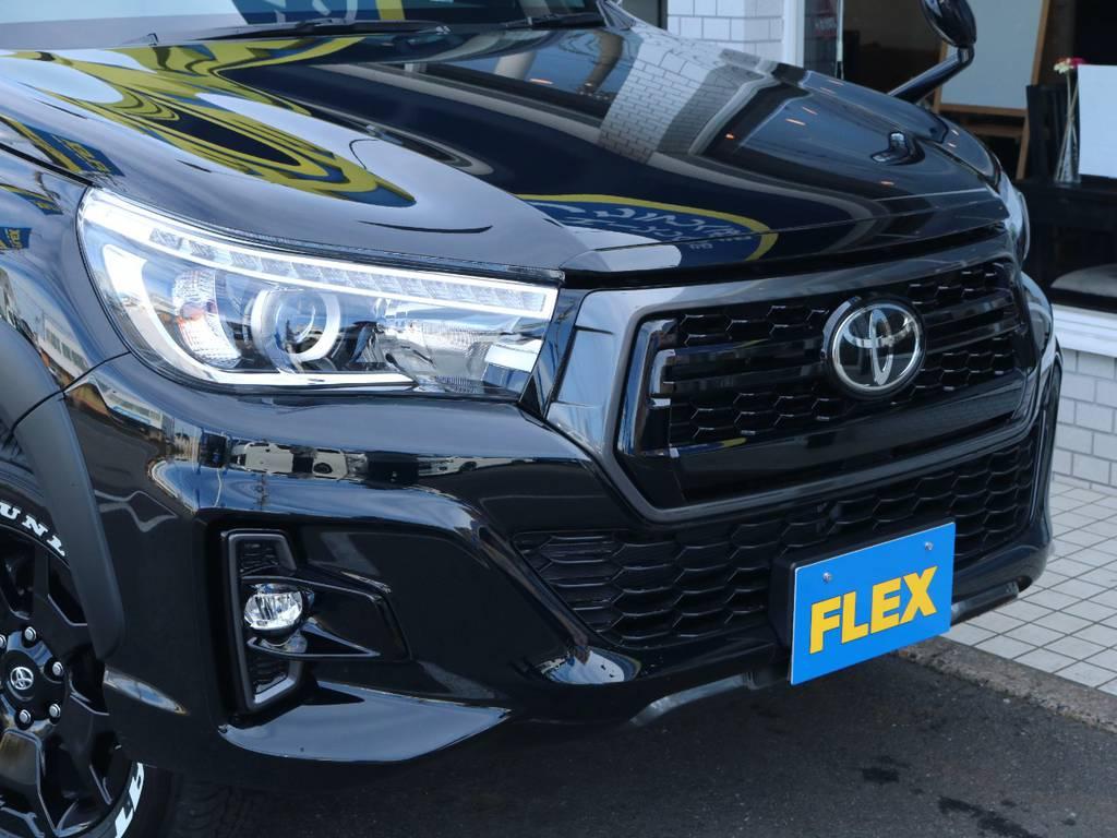特別仕様車専用フェイス『ROCCO』! | トヨタ ハイラックス 2.4 Z ブラック ラリー エディション ディーゼルターボ 4WD Z Black Rally Edit