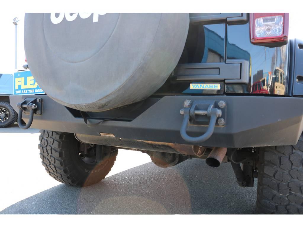 フロントに合わせてリアのバンパーもクロカンスタイルに変更されております! | ジープ ラングラー アンリミテッド スポーツ 4WD アンリミテッド スポーツ 4WD