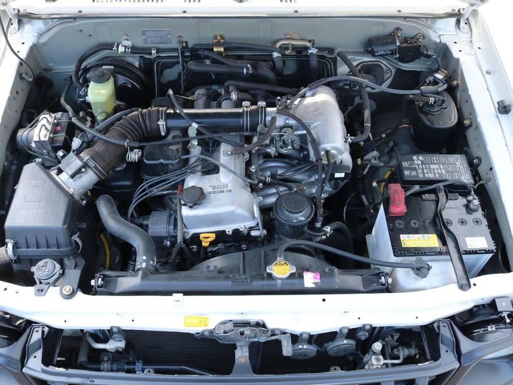 2700ccエンジンで維持費も経済的! | トヨタ ランドクルーザープラド 2.7 TX リミテッド 4WD ナロー ペッパーホワイト