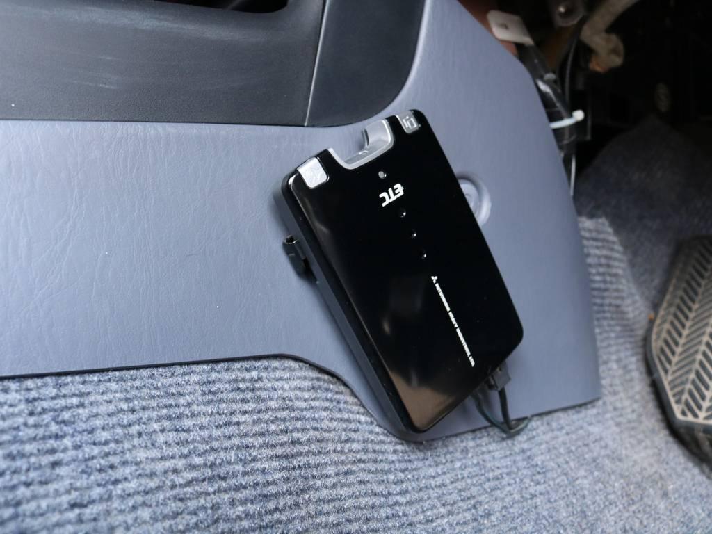 必需品のETCも完備! | トヨタ ランドクルーザープラド 2.7 TX リミテッド 4WD ナロー ペッパーホワイト